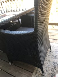 Wicker patio table & chairs