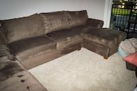 brown suede sectional couch Sacramento