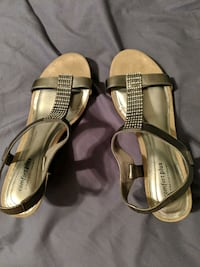 Silver strap wedges Ames, 50010