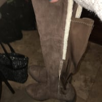 Suede Tall Brown Boots