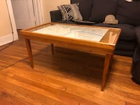 Mid-century modern wooden coffee table w/ removable glass-top Detroit, 48201