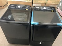 BRAND NEW Black Stainless Steel Samsung XL Top Load Washer and Dryer Set! Houston, 77081