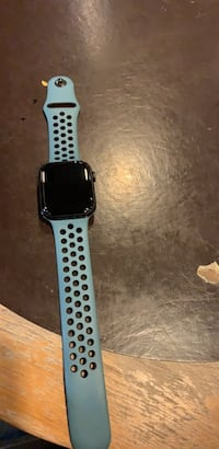 Space gray aluminum case apple watch with black sports band Woodbridge, 22192