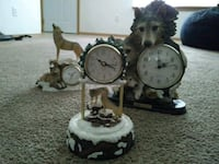 white and brown ceramic table clock Marysville, 98270