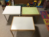 brown wooden framed white wooden table Springfield, 22150