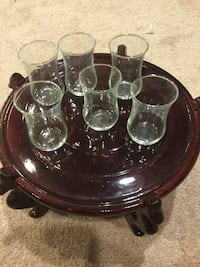 6 Turkish Tea Glasses Set Alexandria, 22310