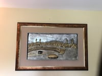 Brown wooden framed painting of house Piscataway, 08854