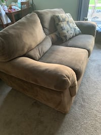Comfy Couches in great shape!  Great price for both sofa and loveseat!