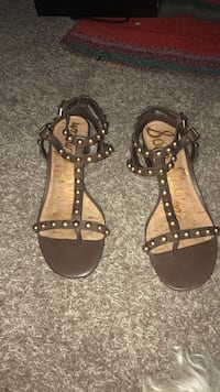 Sam edelman brown leather and gold studded sandals sz   8 Tustin, 92780