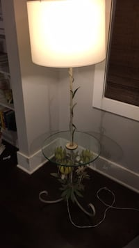 white and green floral table lamp Los Angeles, 90039