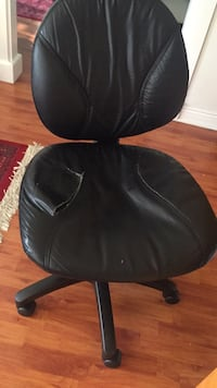 Black leather office rolling chair Surrey
