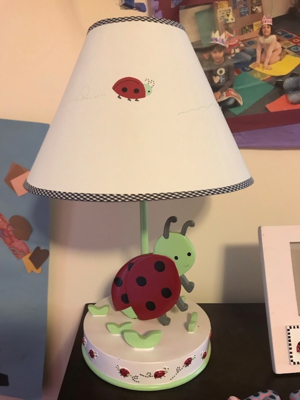 Ladybug lamp and picture frame