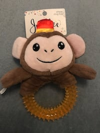 New Dog Chew Toy - Squeaks - Monkey - Puppy Sterling, 20164