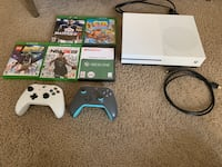 Xbox one s 1tb console w/2 controllers and games