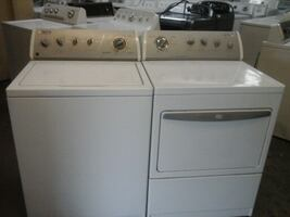 Electric Top load whirlpool grey face washer & dryer