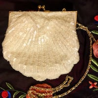 Ivory Seed Bead Cocktail Purse/Clutch San Marcos, 78666