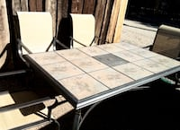 Beautiful tile top patio table set/w/chairs 220obo LOS RNCHS ABQ, 87114