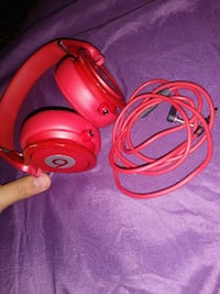 pink Beats by Dre corded headphones