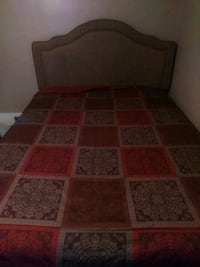 Tan queen bed w/mattress and box spring Akron, 44314