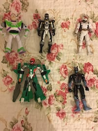 4 power rangers and 1 action figure London, N9 9JN