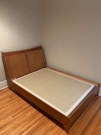 Stained Maple Solid Wood Double Bed with Boxspring Toronto, M6G 2W2
