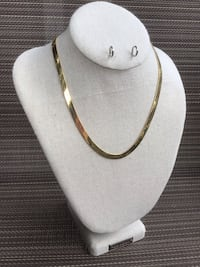 Premier Design Herringbone Necklace, Excellent Condition