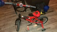 toddler's red and black bicycle with training whee Vancouver, 98663