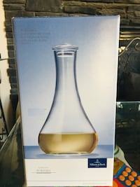 New in box clear as prism glass decanter Calgary, T3K 6J7