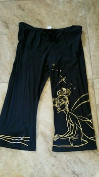 Disney Black tinkerbell lightweight pants size XL