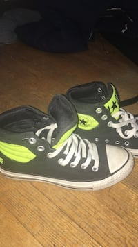 398baab6df7ba6 Used black and neon yellow converse high top sneakers for sale in ...