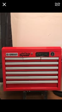red U.S. General portable tool chest