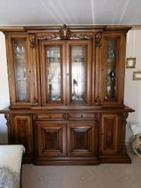 Brown wooden Italian cabinet with cabinet