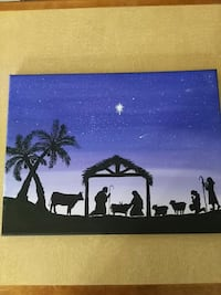 Nativity original acrylic paint  Woodbridge, 22192