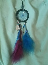 black dreamcatcher with purple and blue feathers Calgary, T2A 1L3