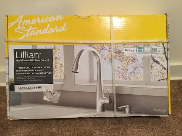 NEW American Standard Lillian Single-Handle Pull-Down Kitchen Faucet Stainless Steel