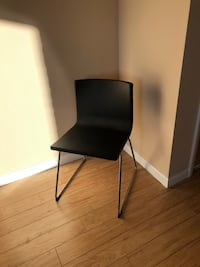 Black metal base black leather padded chair Arlington, 22201