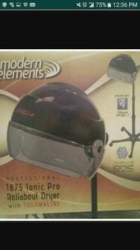 black Modern Elements rollabout dryer with tourmal
