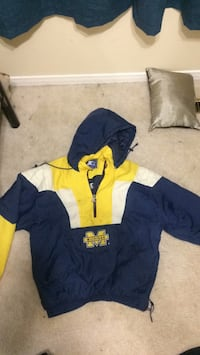 blue and yellow zip-up hoodie 549 km