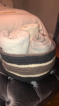 baby's white and black knit cap Vaughan, L0G 1N0