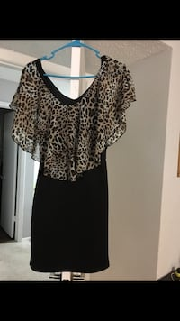 women's black and brown leopard print blouse Charlotte, 28269