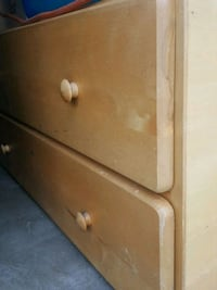 Wooden bed frame with drawers Norwalk, 90650