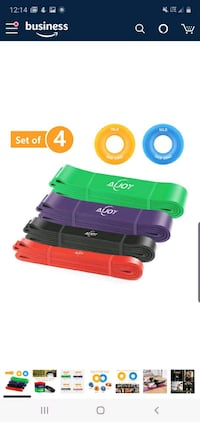 Deluxe Exercise Bands, Set of 4: Bonus of 2 Grips NEW 1/2 PRICE