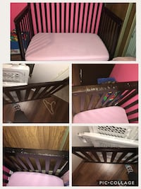 Decently used 3 in 1 crib and bamboo mattress London, N6E 1R9