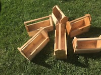 "All cedar garden planter $25 each or all 6 for $125... 17x6 3/4""x12 high and 13 3/4""x7""X12""high St. Albert"