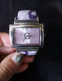 square silver-colored analog watch with link bracelet Ottawa, K1K 4G5
