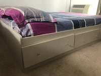 ikea full bed with storage no mattress  Quincy