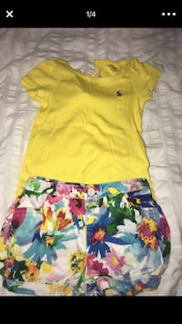 yellow and blue floral sleeveless dress