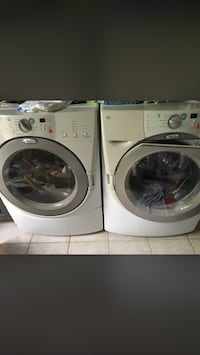 White front-load washer and dryer set Hendersonville