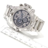 round silver chronograph watch with silver link bracelet Cumberland, 02864