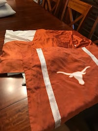 Texas Longhorns Polyester Full Bedskirt & Set of 2 Suede Shams  Cibolo, 78108